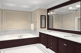 large bathroom design ideas framing a large bathroom mirror with decorative lights and large