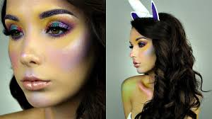 Unicorn Halloween Makeup by Unicorn Makeup Halloween Tutorial Hailey Faulkner Youtube