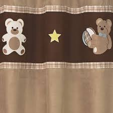 Teddy Shower Curtain Chocolate Teddy Bathroom Fabric Bath Shower Curtain Only