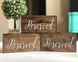 metal reserved table signs reserved table sign etsy