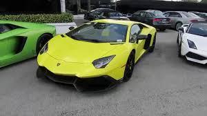 yellow lamborghini aventador stunning neon yellow lamborghini aventador 50th aniversario youtube