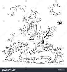 doodle halloween coloring book halloween vector stock vector