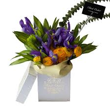 Black Orchid Flower Flower Bouquet In The Box Flower Delivery Online Flower Shop