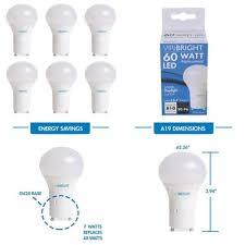 gu24 base led light bulb 60 watt replacement a19 led light bulb daylight 6500k gu24 base pack