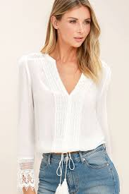sleeve lace blouse boho white top lace top sleeve top blouse 52 00