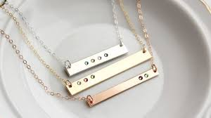 s day necklaces crafty ideas necklaces personalized birthstone bar necklace s