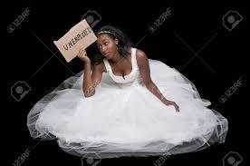 Black Girl Wedding Dress Meme - unemployed black african american woman bride in a wedding dress