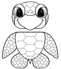 free printable turtle coloring pages for kids regarding baby