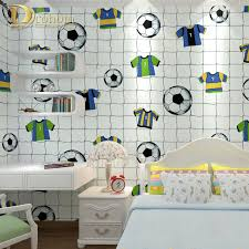 Wallpaper For Kids by Bedroom Modern Cartoon Football Wallpaper White Fabric