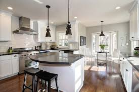 Traditional Kitchens With White Cabinets - traditional kitchen with pendant light u0026 undermount sink in