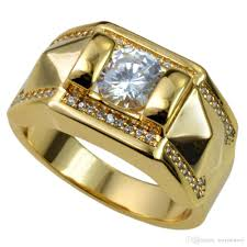 new mens rings images New men 18k gold filled austrian crystals size 8 15 ring jewelry jpg