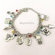 s charm bracelet new pretty liars 10 themed charms assorted metal women s