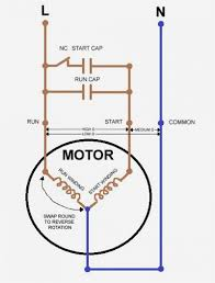 motor with capacitor wiring diagram to single phase start run and