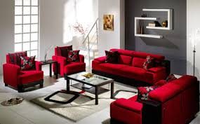 awful red sofa living room photo concept couches small interior