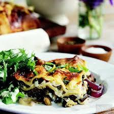 vegetarian lasagna menus