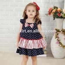 2017 baby polka dot angel wing sleeve dress kids party summer