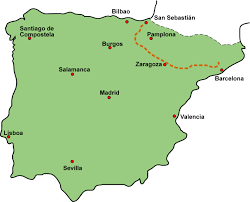 San Sebastian Spain Map by Itinerary And Maps Walking With Inigo U2014 The Ignatian Camino