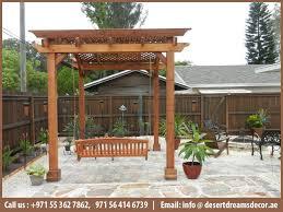 wooden pergola dubai luxury pergola outdoor pergola design