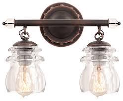 farmhouse bathroom lighting ideas unique brierfield antique copper 2 light farmhouse direct divide of