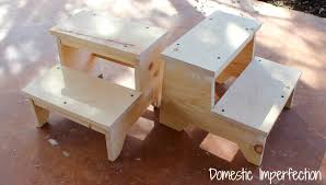 Plans For Child S Wooden Toy Box by Kids Step Stool With Yardstick Steps Domestic Imperfection