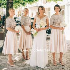 sequin top bridesmaid dresses modest bridesmaid dresses 2017 sequins top sleeves two