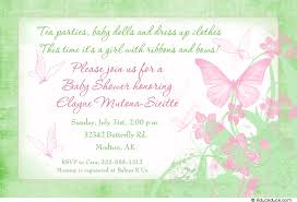 butterfly kisses baby shower invitation sentimental