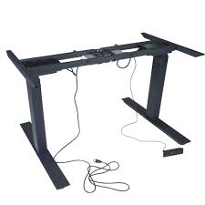 titan dual motor electric adjustable base height sit stand