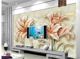 marble stereo lily relief tv backdrop wall mural 3d wallpaper 3d marble stereo lily relief tv backdrop wall mural 3d wallpaper 3d wall papers for tv backdrop