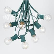 50 ft led outdoor globe patio string lights 50 ssockets 55 clear
