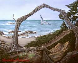 Seeking Painting Seeking Solitude Wildlife Seascape Painting For Sale