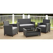 varick gallery feltonville 4 piece deep seating group with cushion