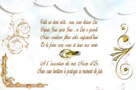 poeme 50 ans de mariage noces d or texte invitation 50 ans de mariage noces d or votre heureux
