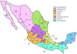 map of mexico with states states of mexico mapsof