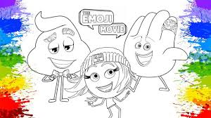 the emoji movie coloring pages for kids painting emojis learning