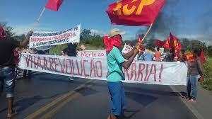 Huelga Flag Brasil Huelga General U2013 Campo Y Ciudad Se Levantan En Luchas