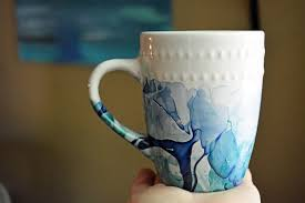 cool coffee mug random ramblings nail polish tie dye painted coffee mugs