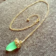 green gem necklace images Urban outfitters jewelry jade green gem shard necklace poshmark jpg