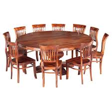 round table and chairs sierra nevada large round rustic solid wood dining table chair set