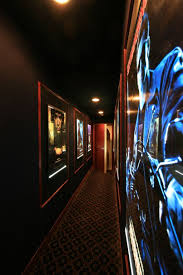 yes hallway leading to home theater room lined with your