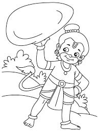 hanuman ji rock coloring download free hanuman ji