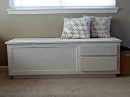 Storage Seat Bench Storage Bench White Wood Home Ideas