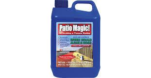 Moss Cleaner For Patios Patio Magic Algae U0026 Moss Killer 5 Litre Algae U0026 Fungicidal