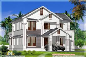 2400 Square Foot House Plans Kerala Model Sloping Roof House 2400 Sq Ft Indian House Plans