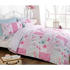 Shabby Chic Bed Linen Uk by Butterfly Floral Patchwork Duvet Cover Reversible White U0026 Pink