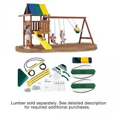 playset add a touch of fun to your backyard with home depot