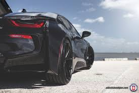 Bmw I8 Custom - black hre wheels and paint scheme give this bmw i8 a stealthy