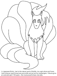 kitsune3 japan coloring pages u0026 coloring book