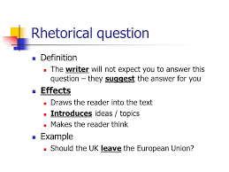 theme question definition rhetorical devices how writers use language to influence the reader