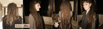 installing extension dreads in short hair dreadlock extensions gold coast to byron bay
