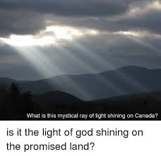 what is a ray of light what is this mystical ray of light shining on canada is it the